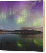 Rural Fjordland Aurora Wood Print