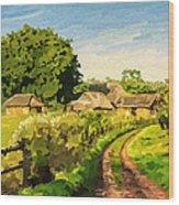 Rural Home Wood Print