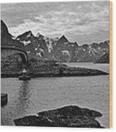 Rural Norwegian Spring Fjordland Wood Print