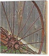 Rural Relics Wood Print