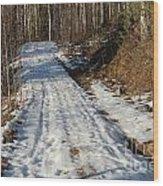 Rural Road In Eary Spring. Wood Print