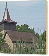 Rural Roadside Church Wood Print