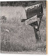 Rural Route Mail Call  Wood Print