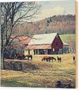 Ruralscape Wood Print