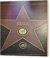 Rush Has A Star Wood Print