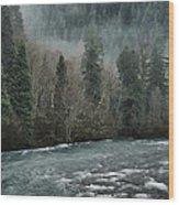 Rushing Mckenzie River Wood Print