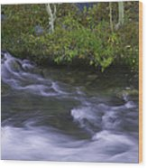 Rushing Stream And Creek Bank - Eastern Sierra Wood Print