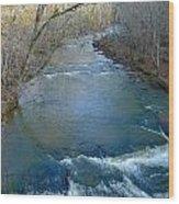 Rushing Vickery Creek Wood Print