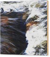 Rushing Water Wood Print