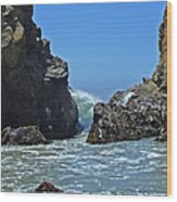Rushing Wave - Big Sur Wood Print