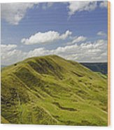 Rushup Edge From Mam Tor Wood Print