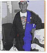 Russell Short Celebrating July 4th Tucson Medical Center Tucson Arizona 1990 Wood Print