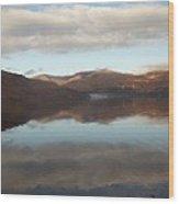 Russet Highland Mountain Refection Wood Print