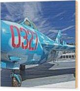 Russian Aircraft Mig At Interpid Museum Wood Print
