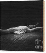 Russian Ballerina As A Melting Snowflake. Wood Print