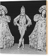 Russian Claudia Ballet Dancers Wood Print by Underwood Archives