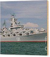 Russian Cruiser Moskva Wood Print