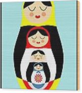 Russian Doll Matryoshka Wood Print