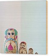 Russian Dolls Wood Print