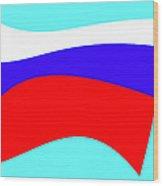 Russian Flag Wood Print by Lali Kacharava