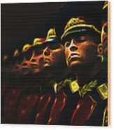 Russian Honor Guard - Featured In Men At Work Group Wood Print