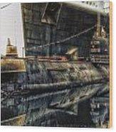 Russian Submarine Extreme Wood Print