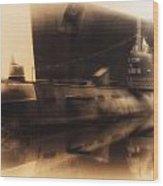 Russian Submarine Heirloom 02 Wood Print