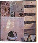 Rust And Metal Abstract  Wood Print