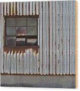 Rust And Window 1 Wood Print