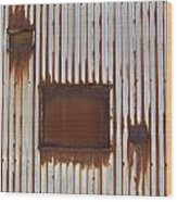 Rust And Window 3 Wood Print