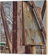 Rust Wood Print by MJ Olsen