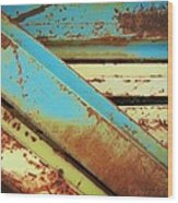 Rust N Turquoise Wood Print