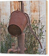 Rusted And Out Of Use Wood Print