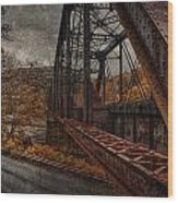Rusted Bridge Wood Print