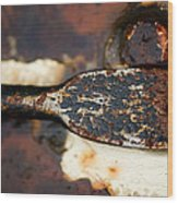 Rusted Camouflage Wood Print