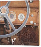 Rusted Dash Of Classic Car Wood Print