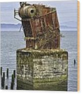 Rusted Equipment Wood Print