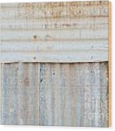Rusted Metal Background Wood Print