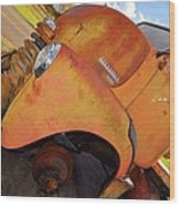 Rusted Out Chevrolet 5700 Wood Print by Liane Wright