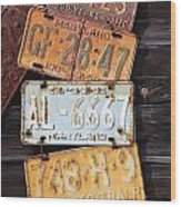 Rusted Plates Wood Print