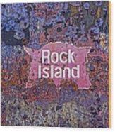 Rusted Rock Island Line Train Car Wood Print