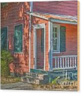 Rusted Tin Roof Wood Print