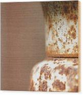 Rusted Urn Wood Print