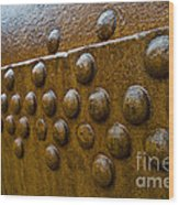 Rusted Whaling Machinery Wood Print