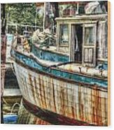 Rusted Wood Wood Print by Michael Thomas