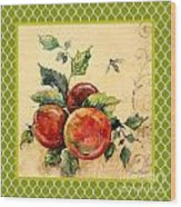 Rustic Apples On Moroccan Wood Print
