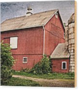 Rustic Barn Wood Print by Bill Wakeley
