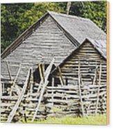 Rustic Barnyard Wood Print