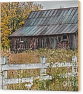 Rustic Berkshire Barn Wood Print