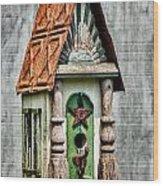 Rustic Birdhouse Wood Print